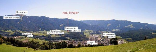 La posizione Camere + Appartamenti App. Schaller San Lorenzo di Sebato