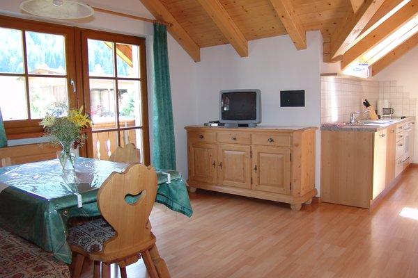 La zona giorno Appartamenti in agriturismo Oberlindnerhof