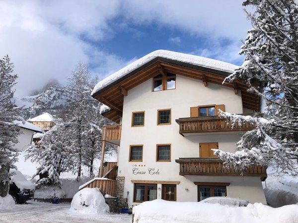 Foto invernale di presentazione Apartments Ciasa Colz