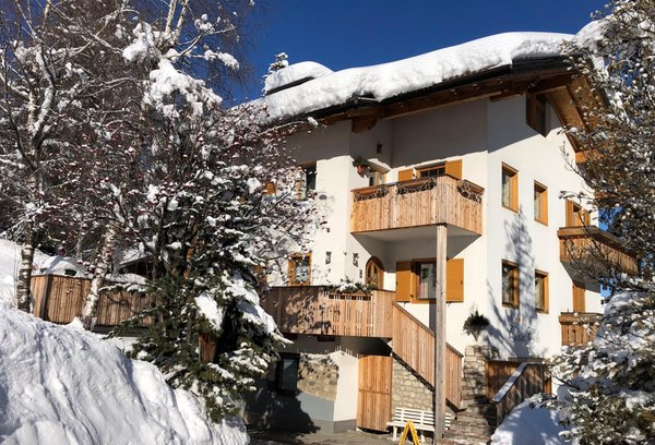 Foto esterno in inverno Apartments Ciasa Colz