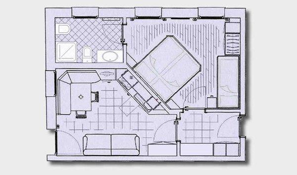 La planimetria Residence Ciasa dl Mone