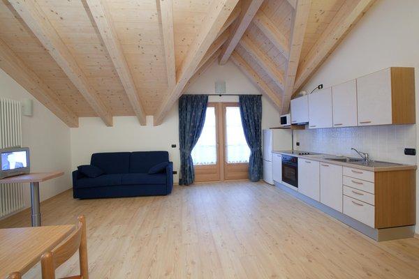 La zona giorno Appartamenti Baita Valandrea