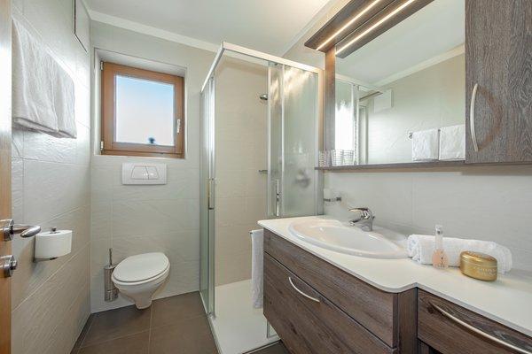 Foto del bagno Appartamenti in agriturismo Pirchnerhof