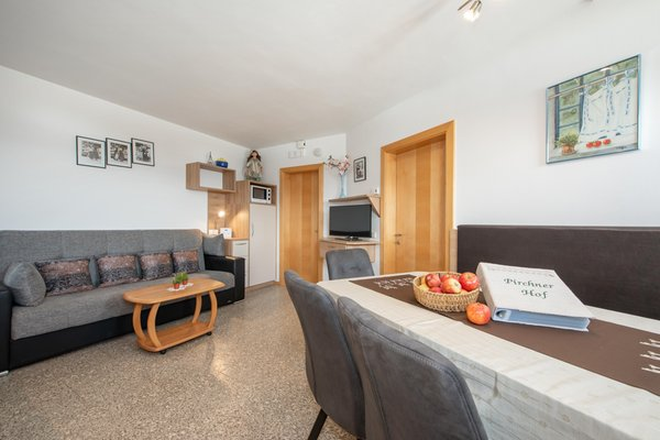 La zona giorno Appartamenti in agriturismo Pirchnerhof