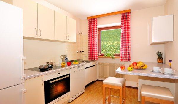 La zona giorno Appartamenti in agriturismo Unterguggenberg