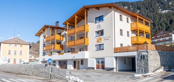 Foto invernale di presentazione Appartamenti Hannas