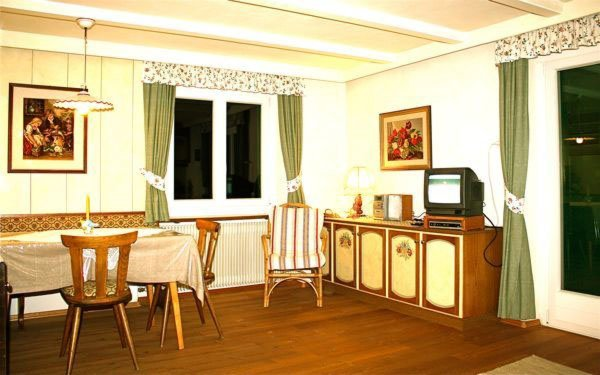 La zona giorno Appartamenti in agriturismo Tanglerhof