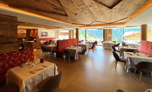 Das Restaurant Vigo di Fassa Ciampedie Luxury Alpine Spa Hotel
