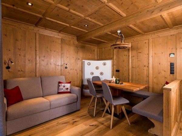 La zona giorno Appartamenti in agriturismo Örlerhof