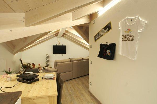 La zona giorno Appartamenti Sweet Dolomites