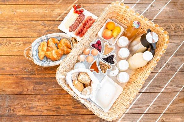 Das Frühstück Ferienwohnungen auf dem Bauernhof Mahrhof