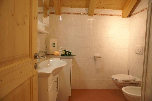 Foto del bagno Appartamenti in agriturismo Lüch da Pespach