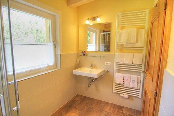 Foto del bagno Appartamenti in agriturismo Planhof