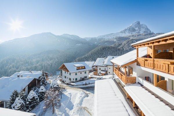 Foto esterno in inverno Hotel Antermoia