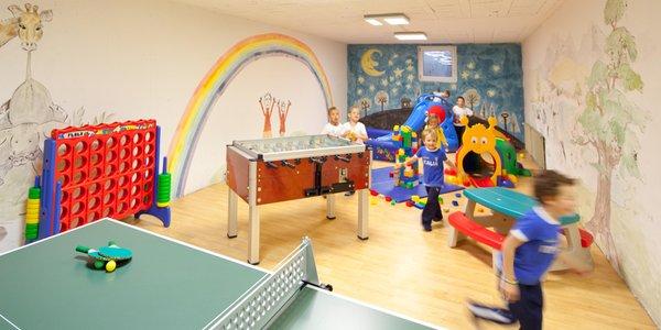 La sala giochi Hotel Antermoia