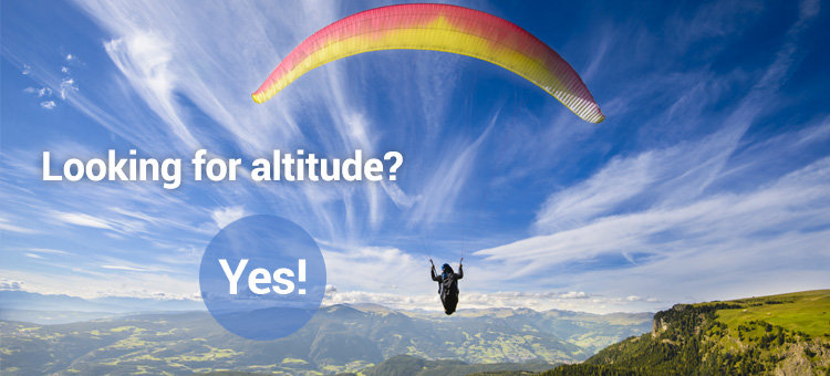 Looking for altitude? Yes!