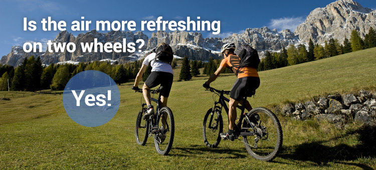 Is the air more refreshing on two wheels? Yes!