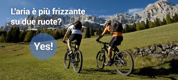 L'aria è più frizzante su due ruote? Yes!