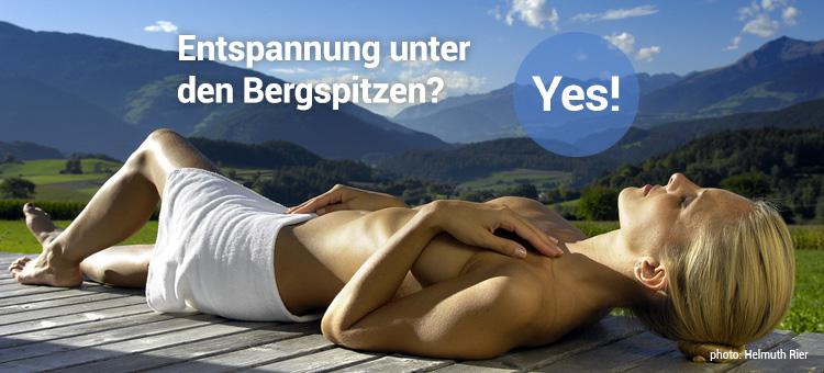 Entspannung unter den Bergspitzen? Yes!