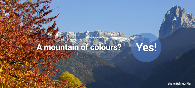 A mountain of colours? Yes!