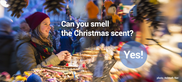 Can you smell the Christmas scent? Yes!